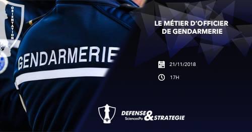 21/11/2018 – Le métier d'officier de gendarmerie